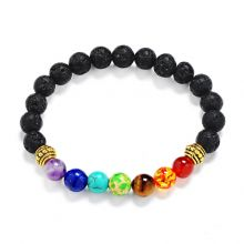 Lava Stone Multicolor Beaded სამაჯური