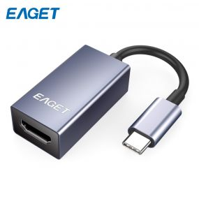 EAGET CH02 Type-C to HDMI Adapter მხარდაჭერა 4K