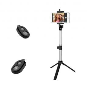 Yeshold Universal Bluetooth Remote Control Stretchable ხელის Tripod Selfie Stick