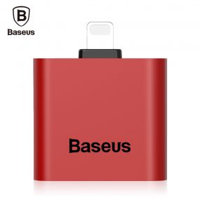 Baseus L39 Dual 8 Pin აუდიო Adapter for iPhone 7/7 Plus