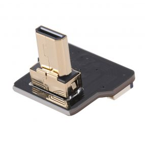 CY CYFPV Micro HDMI ტიპის D კაცი Up Angled 90 ხარისხი Connector for FPV HDTV multicopter Aerial Photography